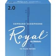 Palheta Rico Royal By D'addario Sax Soprano 2 - Valor Unitário
