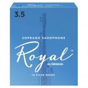 Palheta Rico Royal By D'addario Sax Soprano 3,5 - Valor Unitário