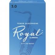 Palheta Rico Royal By D'Addario Sax Tenor 3 - Valor Unitário