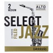 Palheta Rico Select Jazz Filed Sax Alto 2 Medium  - Valor Unitário