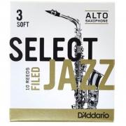 Palheta Rico Select Jazz Filed Sax Alto 3 Soft - Valor Unitário