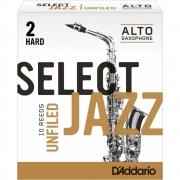 Palheta Rico Select Jazz Unfiled Sax Alto 2 Hard
