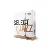 Palheta Rico Select Jazz Unfiled Sax Soprano 3 Medium - Valor Unitário