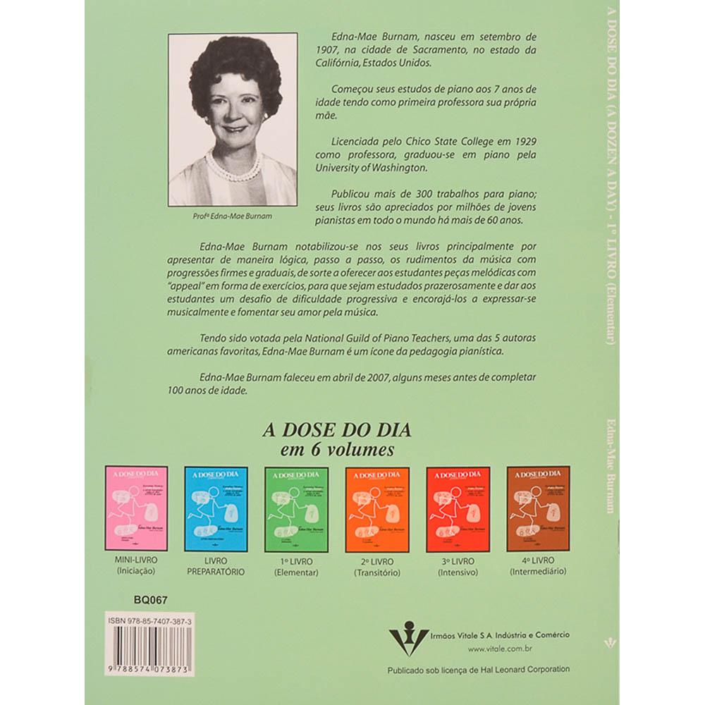 A Dose Do Dia Capa Verde Elementar Livro 1, Piano, Edna Mae Burnam