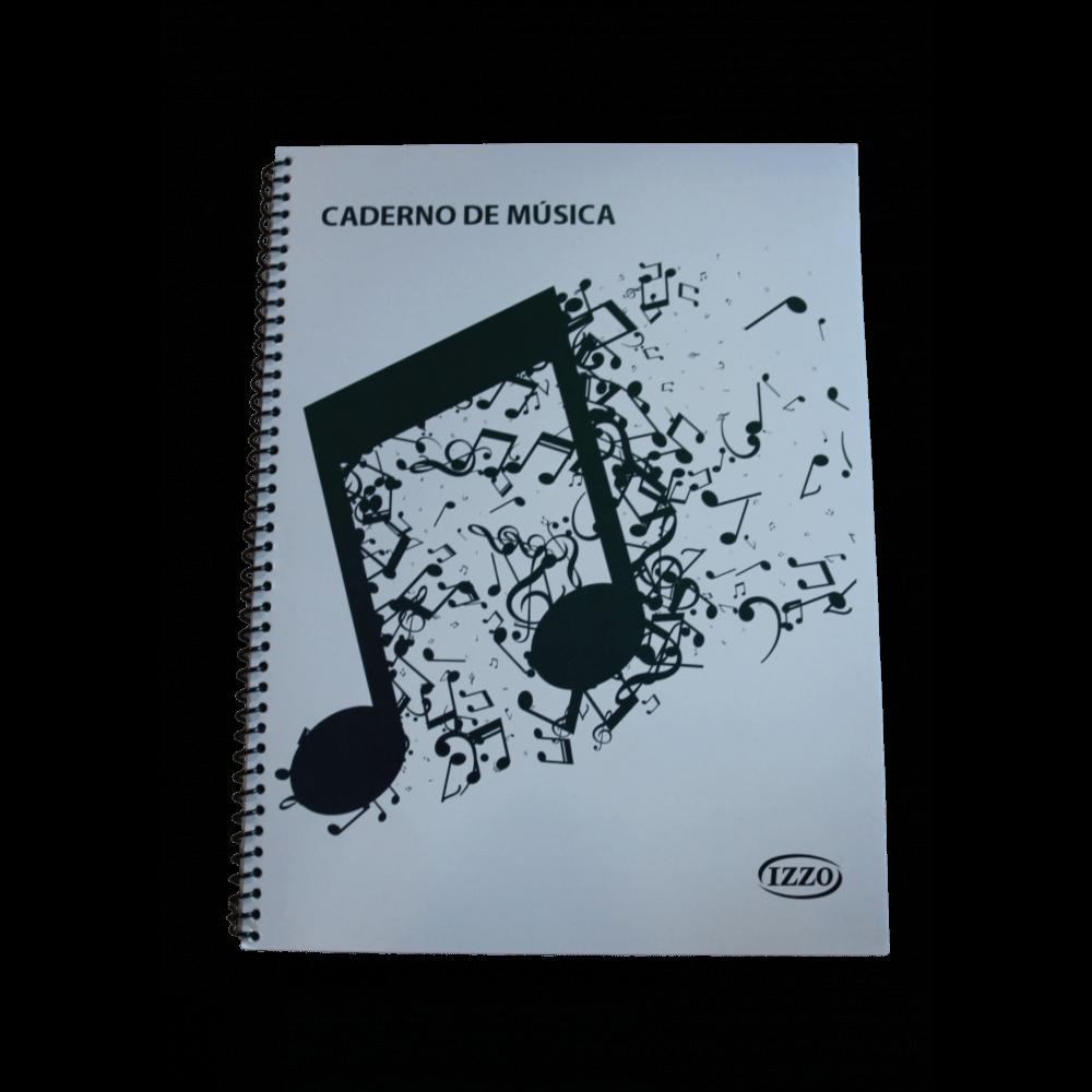 Caderno de Música Espiral Grande 100 Folhas