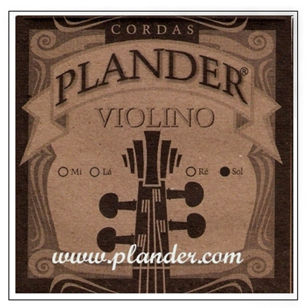 Corda Sol Plander Perlon para Violino 1/2