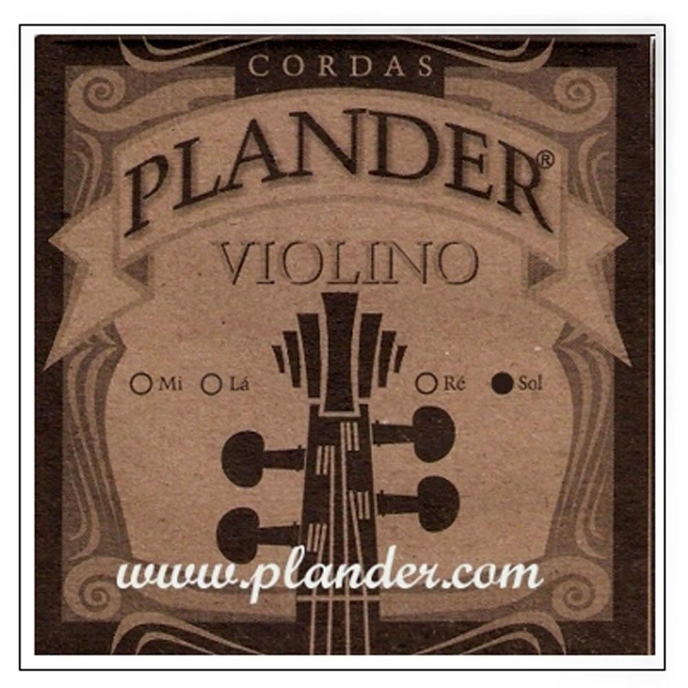 Corda Sol Plander Perlon para Violino 4/4