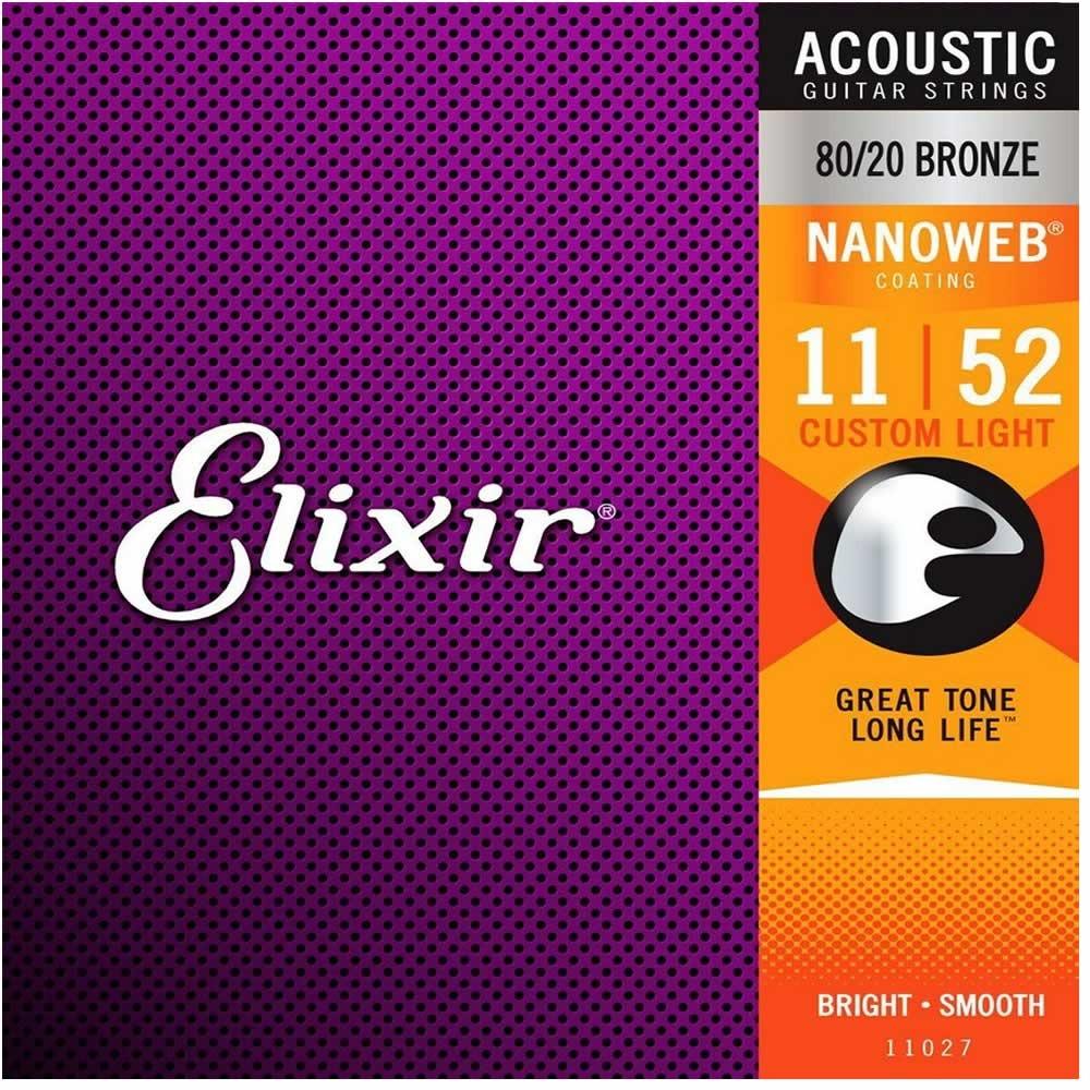 Encordoamento Elixir Custom Light 011 Violão Aço