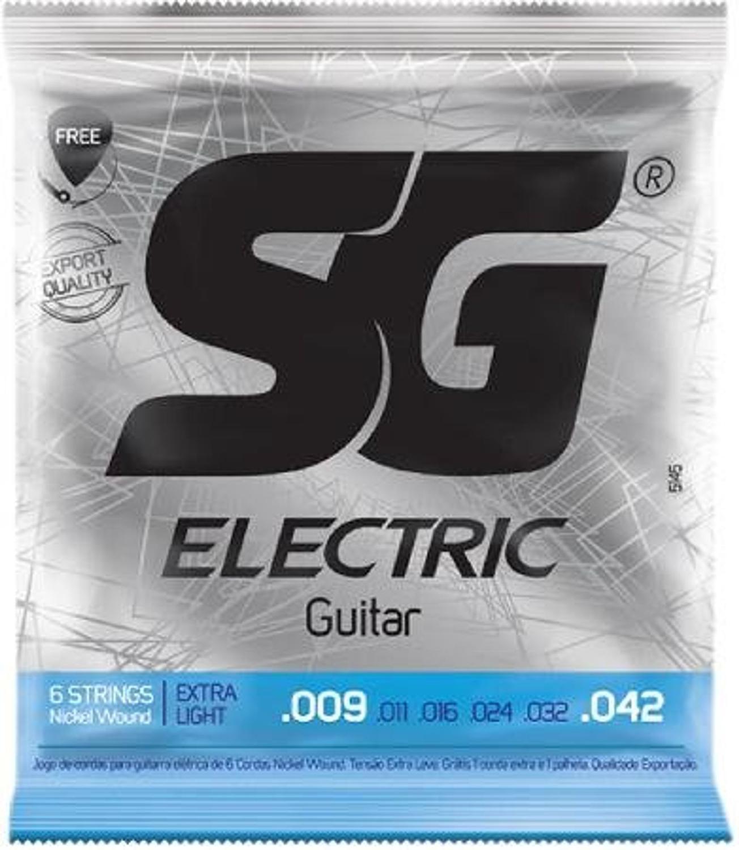 Encordoamento SG para Guitarra Niquel Extra Light 009