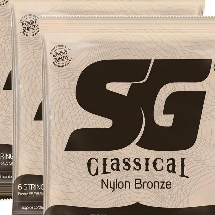 Encordoamento SG para Violão 028 Nylon Bronze 65/35 Tensão Média
