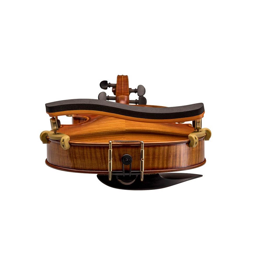 Espaleira Profissional Kapaier 810 Deluxe Violino 4/4 Estilo Kun Bravo Madeira, Reta