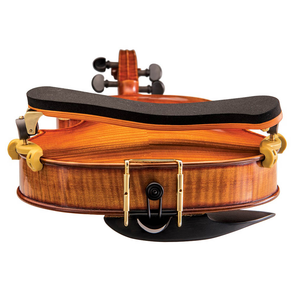 Espaleira Profissional Kapaier 910 Deluxe Violino 4/4 Estilo Kun Bravo Madeira