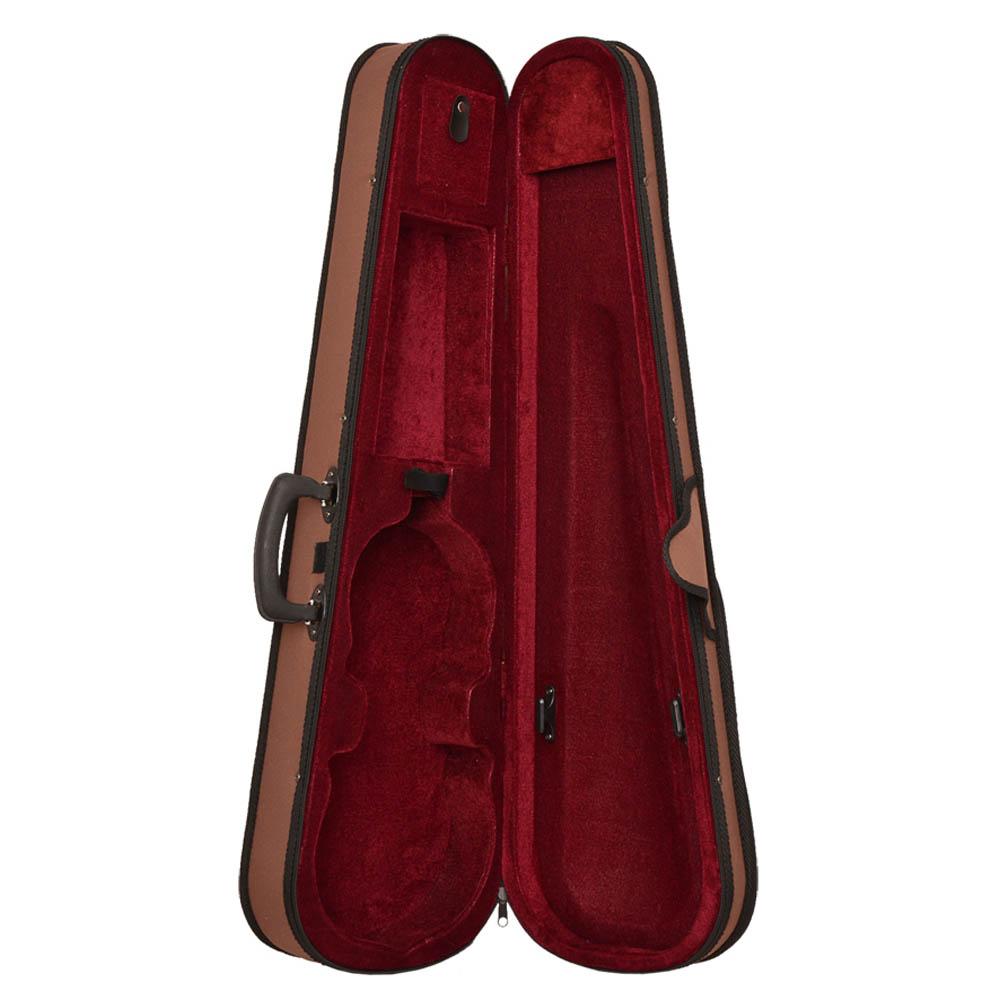 Estojo Formato Leve Zion Violino Marrom E Vermelho
