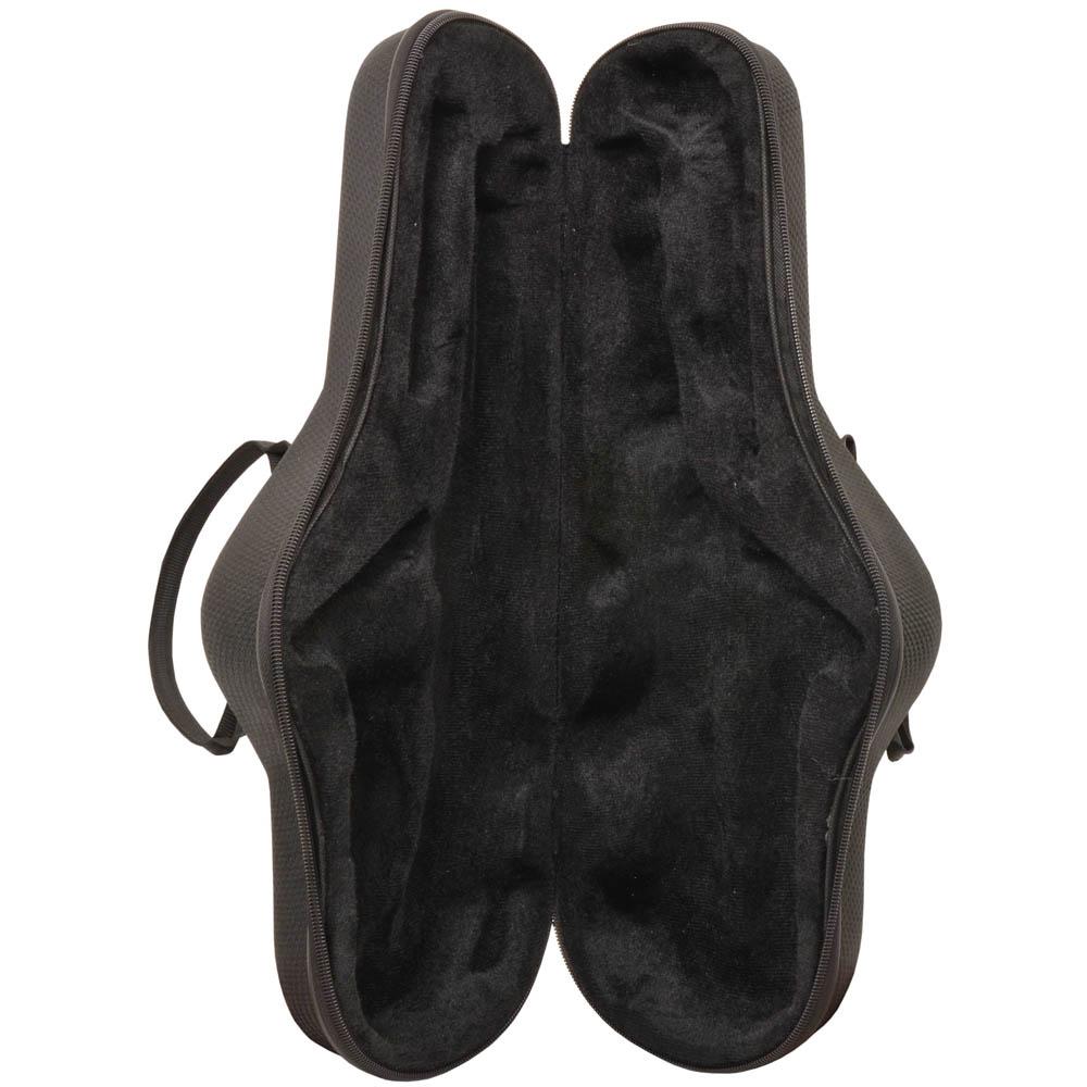 Estojo Profissional Zion Formato Sax Alto Cinza Escuro