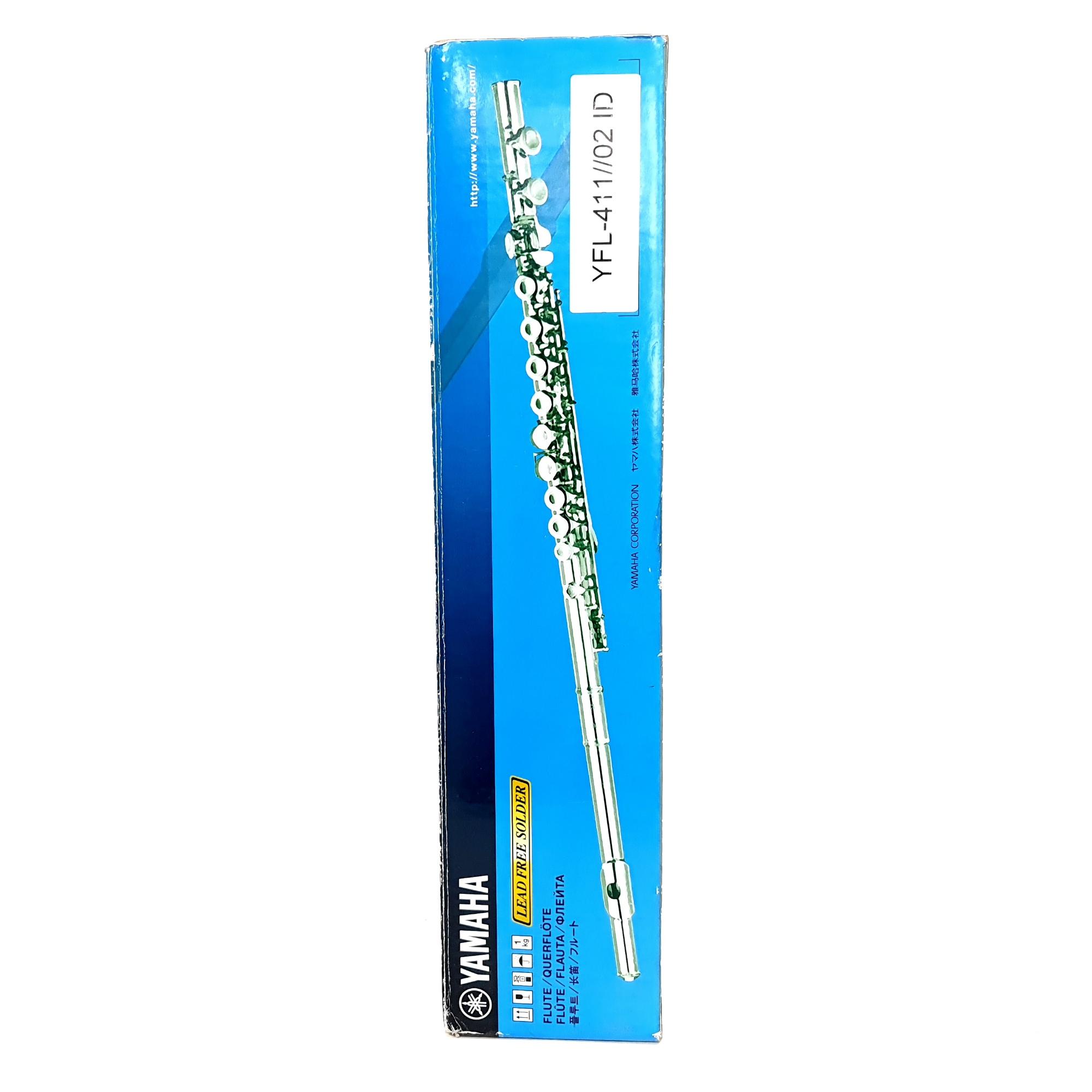 Flauta Transversal Yamaha YFL-411 Prata Maciça Seminova