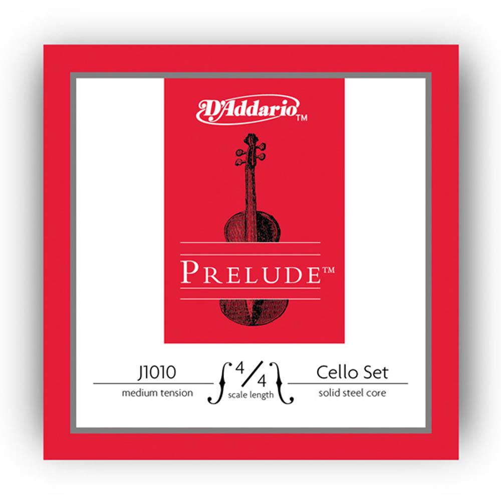 Jogo de Cordas D'addario Prelude Média J1010M Violoncelo 4/4