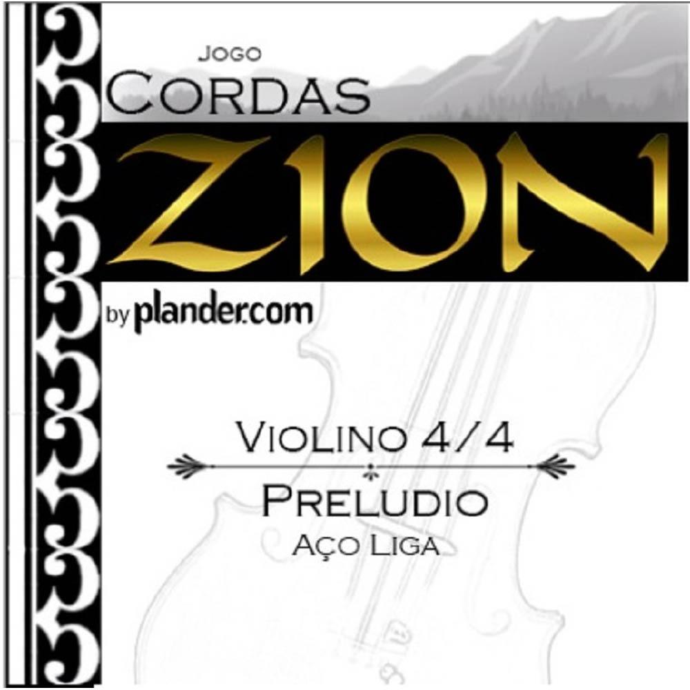 Jogo De Cordas Zion Preludio Aço-Liga Violino 4/4