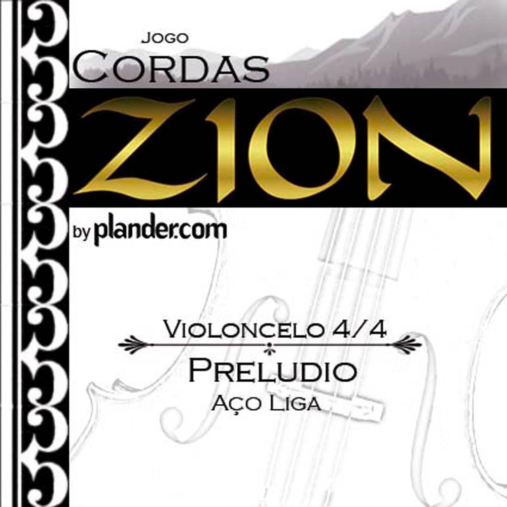 Jogo De Cordas Zion Preludio Aço-Liga Violoncelo 4/4
