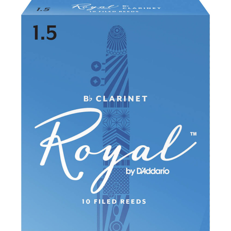 Palheta Rico Royal By D'addario Clarinete 1,5 - Valor Unitário