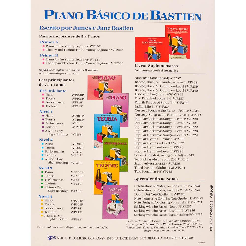 Piano Básico de Bastien - Teoria Nível 1