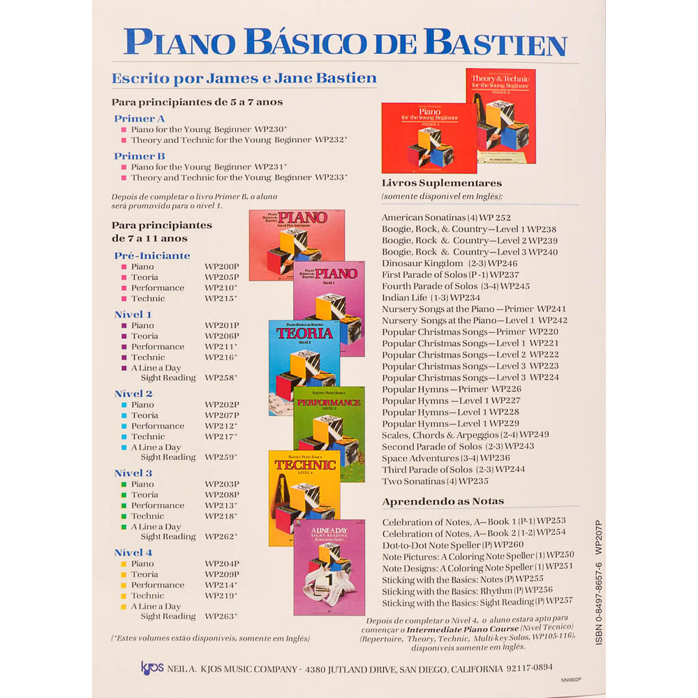 Piano Básico de Bastien - teoria Nível 2