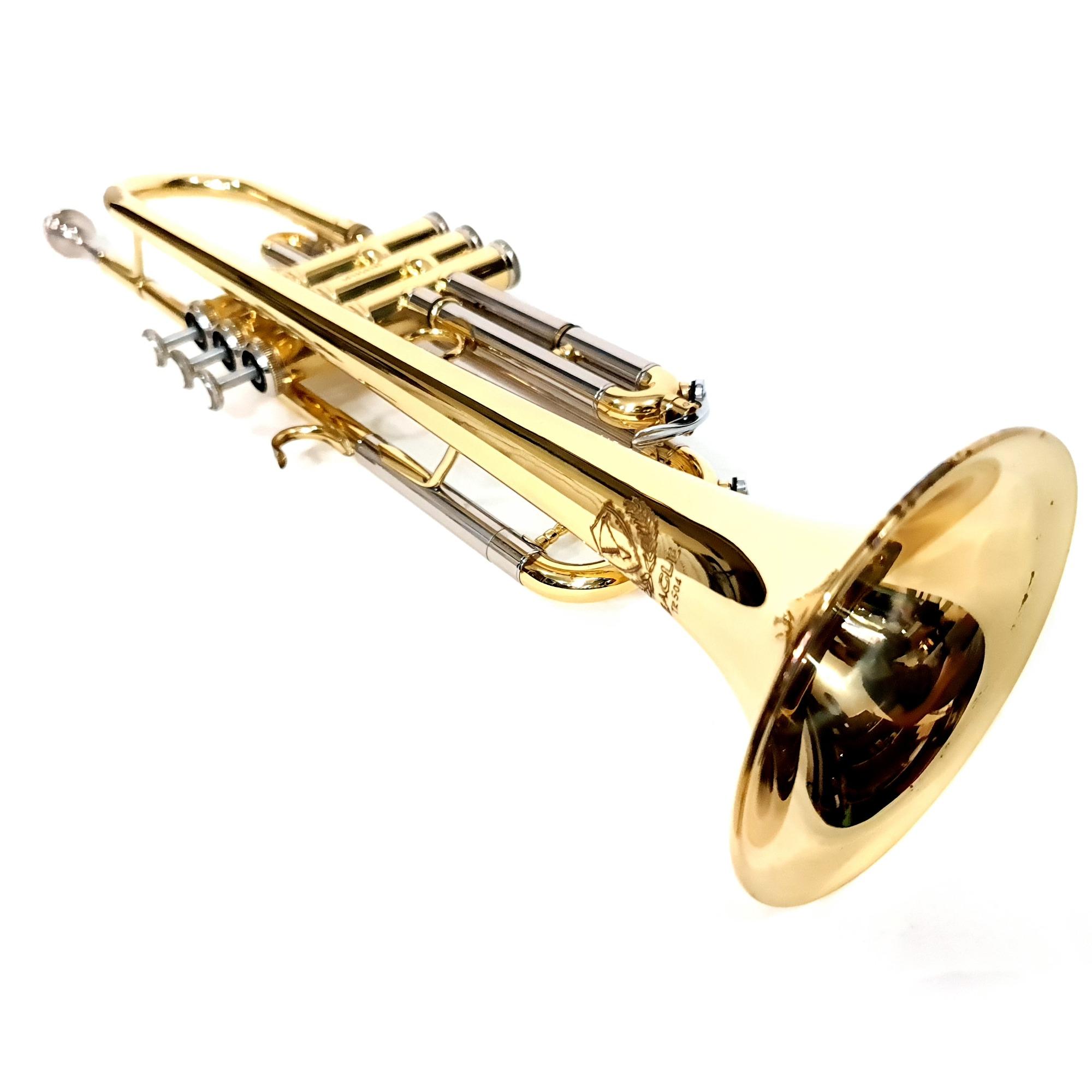 Trompete Eagle Sib Tr504 Laqueado Usado