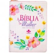 A Bíblia Da Mulher Com Índice | ARC | Capa Pu | Letra Normal | Rosa