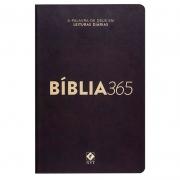 Bíblia 365 Clássica | Nvt | Capa Dura | Preta
