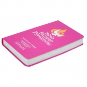 Bíblia Batismo Pentecostal  de Estudo com Harpa   Arc   Capa Luxo   Pink