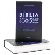 Bíblia com 365 Reflexões | Arc | Letra Hipergigante |Capa Dura Azul