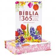Bíblia com 365 Reflexões | ARC | Letra Hipergigante | Capa Dura Flores