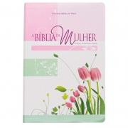 Bíblia Da Mulher | ARA | Couro Bonded | Rosa
