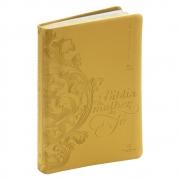 Bíblia da Mulher de Fé | Nvi | Luxo | Capa Couro Soft | Dourado