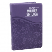 Bíblia Da Mulher Virtuosa | ACC | Capa Luxo | Roxa