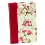 Bíblia Da Mulher Virtuosa | ACC | Capa Luxo | Vermelha