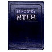 Bíblia De Estudo | NTHL | Capa Pu | Letra Normal | Azul