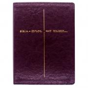 Bíblia De Estudo | NVT | Capa Pu | Vinho
