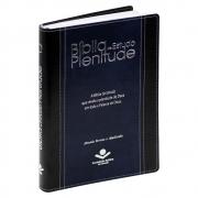 Biblia de Estudo Plenitude | Ara |com Índice | Couro Sintético | Azul e Preta