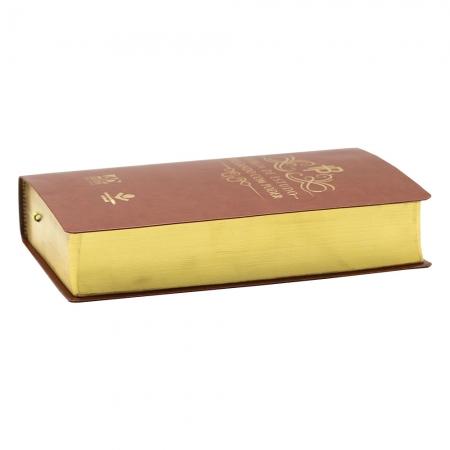 Bíblia De Estudo Pregando Com Poder | ARC | Couro Bonded | Marrom