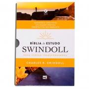 Bíblia De Estudo Swindoll Petra | NVT | Capa Pu | Cinza