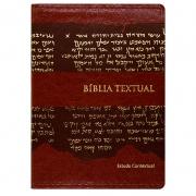 Bíblia de Estudo Textual | Btx | Couro Sintético | Letra Grande | Marrom