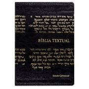 Bíblia De Estudo Textual | BTX | Letra Grande | Couro Sintético | Preta