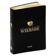 Bíblia de Estudo Wiersbe | Nvi | Luxo | Capa Couro Sintético | Preta