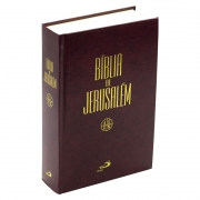 Bíblia de Jerusalém | Revista e Ampliada | Capa Dura | Vinho