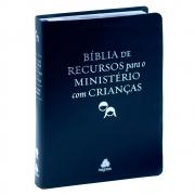 Bíblia De Recursos Para O Ministério Com Crianças Luxo | ARA | Capa Couro Bonded | Azul