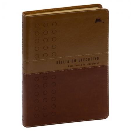 Bíblia do Executivo | Nvi | Luxo | Capa Pu | Marrom e Marrom Escuro
