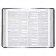 Bíblia do Homem Sábio de Estudo com Harpa | Arc | Letra Grande | Capa Luxo | Preta