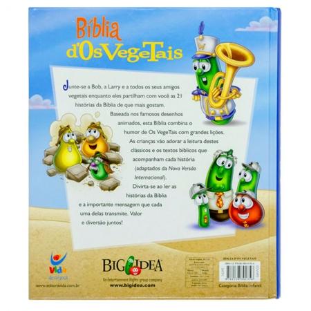 Bíblia dos Vegetais   Infantil   Letra Grande   Capa Dura Colorida