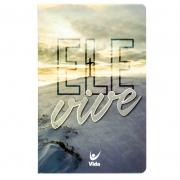 Bíblia Ele Vive | NVI | Capa Semiluxo | Bege