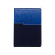 Bíblia Em Ordem Cronológica   NVI   Capa Luxo   Azul Claro E Escuro